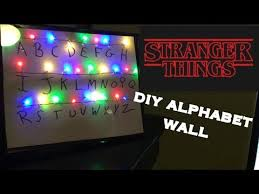 cool light up things diy stranger things alphabet wall it lights up youtube