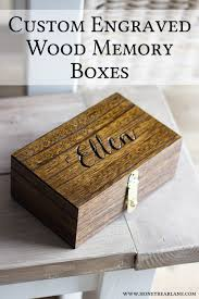 engraved memory box custom engraved memory boxes honeybear