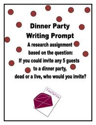 Dinner Party Question Games - dinner party writing prompt by middle cafe tpt