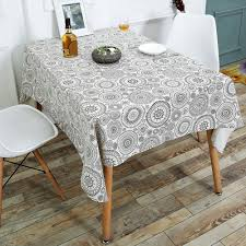 kitchen tools gray w55 inch l78 inch bohemian linen dining