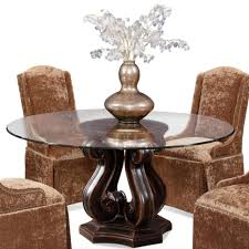 Circle Glass Table And Chairs Dining Room Wallpaper Hi Res Dark Wood Dining Table Round Glass