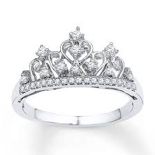 crown wedding rings crown ring 1 5 ct tw diamonds sterling silver