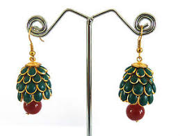 pachi earrings designer pachi jhumka earring indian handmade pachhi pearl jhumka