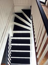 black and white painted staircase transformation staircase