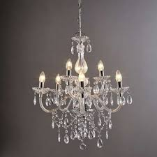 Clear Acrylic Chandelier Dunelm Maisie 8 Light Glass Chandelier Chandeliers Arms And
