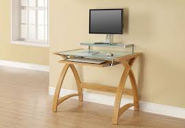 Home Computer Desk Table Design Small Computer Desk With Keyboard Shelf Compact
