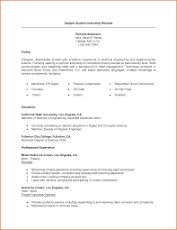 resume examples electrical engineer resume samples for internship college students frizzigame example of college student resume for internship frizzigame
