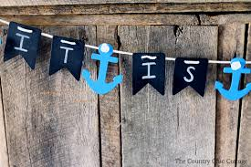 baby shower banner nautical baby shower banner the country chic cottage