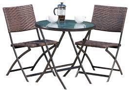 cantinela outdoor wicker folding bistro 3 set tropical