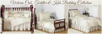 champagne and ivory victorian baby and kids bedding