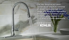 kohler simplice kitchen faucet kohler simplice kitchen sink faucet