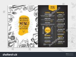 restaurants menu templates free restaurant cafe menu template design food stock vector 289261652 restaurant cafe menu template design food flyer