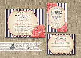 wedding invitations costco navy and coral wedding invitations plumegiant