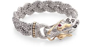 dragon bracelet gold images Lyst john hardy 18k gold sterling silver ruby braided dragon jpeg