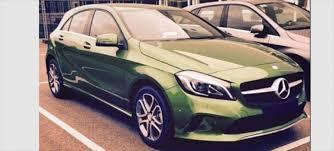 mercedes green photo of 2015 mercedes a class facelift green paint
