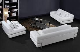 Modern Leather Sofa Sets Fancy White Leather Sofa Set 69 In Modern Sofa Inspiration With