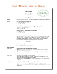 sample graduate student resume 2013 2014