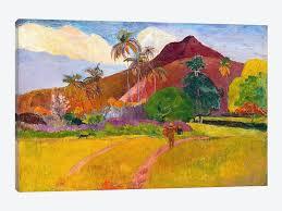 Landscape Canvas Prints by Tahitian Landscape Canvas Artwork By Paul Gauguin Icanvas