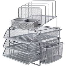 Mesh Desk Organizer Staples All In One Silver Wire Mesh Desk Organizer 27642 Staples