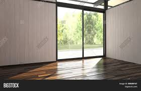 Floor To Ceiling Window 3d Rendering Of Architectural Background Of An Airy Bright Empty