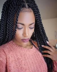 cornrows hairstyle with part in the middle rope twist tutorial how to rope twist braids and styles