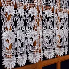 Butterfly Lace Curtains Macrame Lace Cafe Curtains