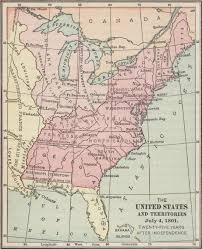 Full Map Of The United States by File Map Of The United States And Territories July 4 1801 A D
