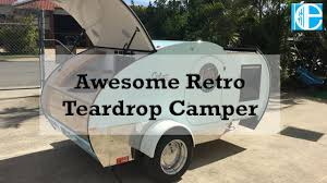 Retro Campers by Awesome Retro Teardrop Camper Youtube
