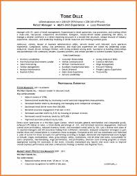 Resume Samples Retail Management by Retail Management Resume Sop Proposal