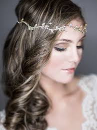 forehead bands golden wreath for the and the bridesmaids as well