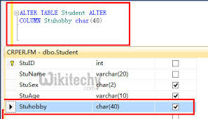 Sql Server Alter Table Change Column Name Alter Table Add Column Modify Column Syntax In Sql Sql Sql