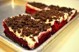 red velvet brownies from great american cookies fresh made