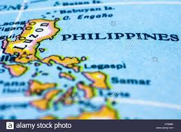 Countries In Asia Map by Close Up Map Of The Country The Philippines Located In Asia Stock