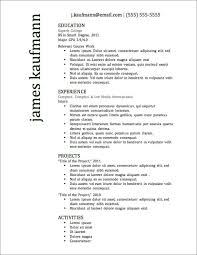 Free And Easy Resume Templates 12 Resume Templates For Microsoft Word Free Download Primer