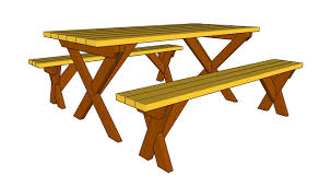 Picnic Table Plans Free Folding Picnic Table Bench Plans Free Friendly Woodworking Projects