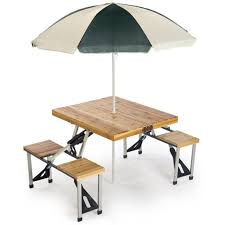 Diy Folding Wooden Picnic Table by 25 Best Picnic Table With Umbrella Ideas On Pinterest Garden