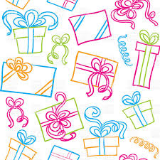 bows for gift boxes seamless pattern with colorful square and rectangular