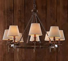 Wine Barrel Chandelier For Sale Collins Chandelier Aged Brass Pottery Barn