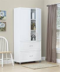 large white storage cabinet garage furniture small spaces and low ceiling garage makeover