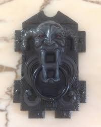 vintage plastic halloween satan door knocker vintage