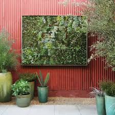 metal wall planter patio contemporary with green plant pots green