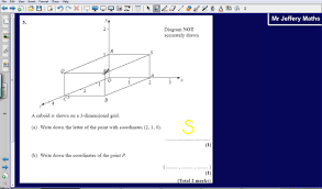 Coordinate Geometry Worksheets 3 D Coordinates Questions 5 Edexcel Gcse Maths 2008 Non