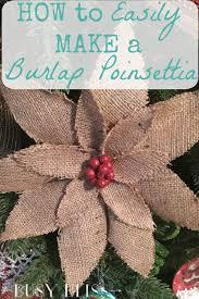 how to easily make a burlap poinsettia rustic