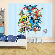 wall murals dc comics original superhero montage large wall mural free paste