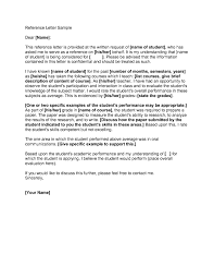 ideas of letter of recommendation template free for your job