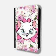 marie aristo cats floral passport holder travel protection flip