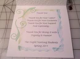 thank you card for a nursing clinical instructor 6 interior