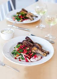 Easy Dinner Party Main Dishes - grilled poussin fattoush and tahini yoghurt tahini grilling