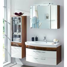 badezimmer m bel g nstig badmöbel set günstig rom hochgl weiß walnuss nb 3tl
