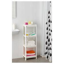 Small Bathroom Shelf Unit Vesken Shelf Unit White 36x100 Cm Ikea